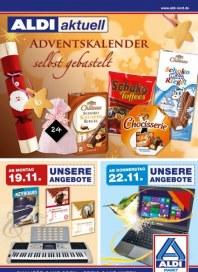 Aldi Nord Adventskalender selbst gebastelt November 2012 KW47