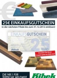 Teppich Kibek 25€ Einkaufsgutschein Dezember 2012 KW48