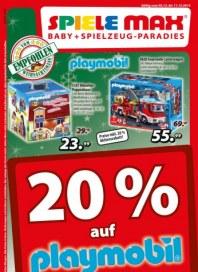 Spiele Max 20% auf Playmobil Dezember 2012 KW49