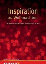 Kaiser's Inspiration zu Weihnachten Dezember 2012 KW49