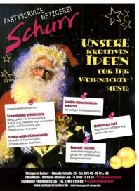 Metzgerei Schurr Unsere kreativen Ideen Dezember 2012 KW50
