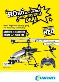 Conrad HoHo Hol dir den Donnerstags Deal Dezember 2012 KW50