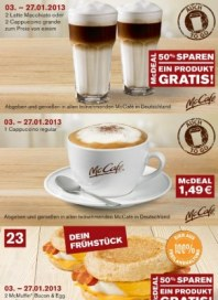 McDonalds Mcdonalds Gutscheine Januar 2013 KW01