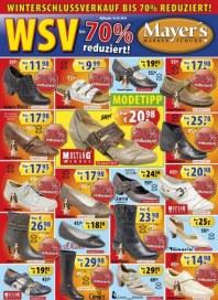 Mayer's Markenschuhe Monatsflyer Januar 2013 KW03