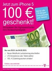 Telekom Shop Jetzt zum iPhone 5 100€  geschenkt Januar 2013 KW05