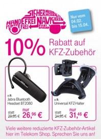 Telekom Shop 10% Rabatt auf KFZ-Zubehör Februar 2013 KW05