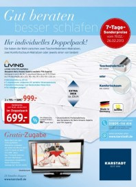 KARSTADT Matratzen und Bettwaren - Gut beraten Februar 2013 KW08 1