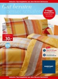 KARSTADT Matratzen und Bettwaren - Gut beraten März 2013 KW10