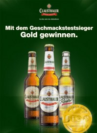 Clausthaler Mit dem Geschmackstestsieger Gold gewinnen März 2013 KW12