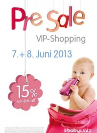Baby Walz Pre sale Juni 2013 KW23