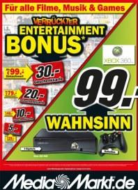 MediaMarkt Verrückter Entertainment Bonus Juli 2013 KW27 1