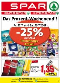 SPAR Inter-, Euro- und Spar Angebote 11.07. - 24.07.2013 Juli 2013 KW28