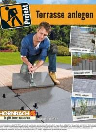 Hornbach Projekt Terrasse anlegen 02 / 2013 Terrasse mit Holz, Stein, Fliesen und Click-Systemen anl