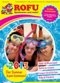 Rofu Kinderland Sommerkatalog Spielwaren April 2013 KW14