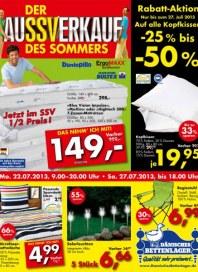 Dänisches Bettenlager Rabattaktion Juli 2013 KW29