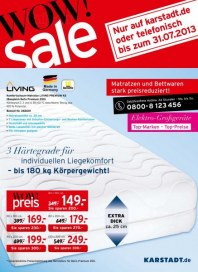 KARSTADT 24.07.2013 Matratzen & Bettwaren - Wow! sale Juli 2013 KW30