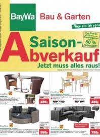 Baywa Bau- & Gartenmärkte Saisonabverkauf - Aktionsangebote Juli 2013 KW31