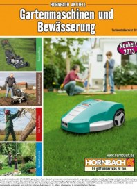 Hornbach Gartenmaschinen und Bewässerung 03 / 2013 Rasenpflege, Strauch- und Bodenpflege, Holz bearb
