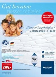 KARSTADT 12.08.2013 Matratzen & Bettwaren - Gut beraten besser schlafen 12.08 August 2013 KW33