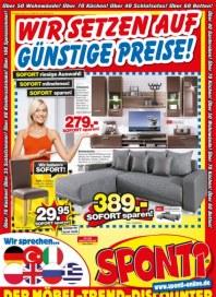 Sponti Möbeldiscounter Wir setzen auf günstige Preise August 2013 KW35