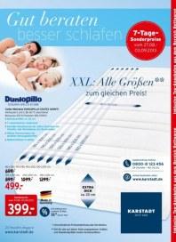 KARSTADT 27.08.2013 Matratzen & Bettwaren - Gut beraten besser schlafen - 27.08 August 2013 KW35