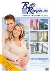 Rollo Rieper Komplettprogramm 2013/14 August 2013 KW35