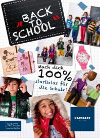 KARSTADT 13.08.2013 Back to School - 13.08 August 2013 KW35