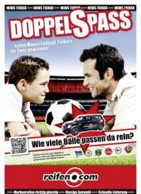 Reifen.com DOPPELSPASS - Mit reifen.com jeden Monat Fußballtickets gewinnen September 2013 KW35