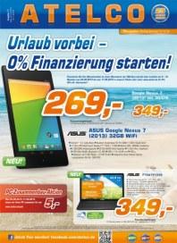 ATELCO Computer Urlaub vorbei - 0% Finanzierung starten September 2013 KW36