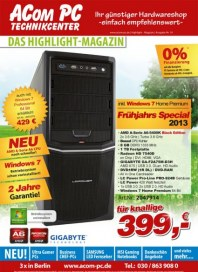 Acom PC Das Highlight-Magazin September 2013 KW36