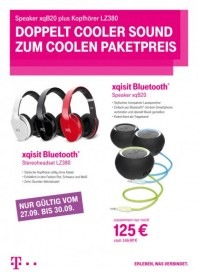 Telekom Shop Doppelt cooler Sound zum coolen Paketpreis September 2013 KW39