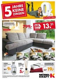 Möbel Kraft 5 Jahre keine Zinsen! - Nur bis 02.11.2013 September 2013 KW40
