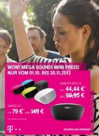 Telekom Shop Wow! Mega Sound! Mini Preis September 2013 KW40