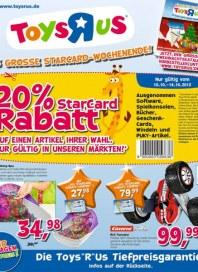 Toys'R'us 20% StarCard Rabatt Oktober 2013 KW41