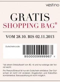 vestino Vestino - Gratis Shopping Bag* Oktober 2013 KW44
