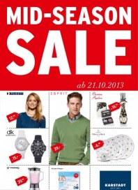 KARSTADT 21.10.2013 Mid-Season Sale 21.10 Oktober 2013 KW43