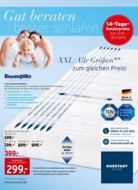 KARSTADT 21.10.2013 Matratzen & Bettwaren - Gut beraten besser schlafen - 21.10 Oktober 2013 KW43