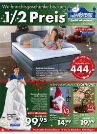 Dänisches Bettenlager 1/2 Preis November 2013 KW44