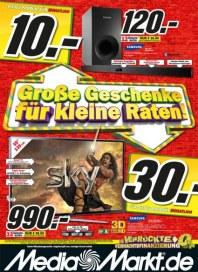 MediaMarkt Große Geschenke für kleine Raten November 2013 KW48