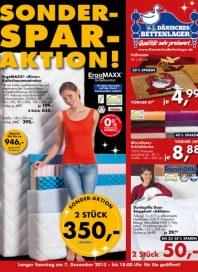 Dänisches Bettenlager Sonder-Spar-Aktion Dezember 2013 KW49