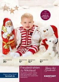 KARSTADT Haus der Geschenke - Freudestrahlen zum Nikolaus Dezember 2013 KW49