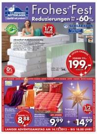 Dänisches Bettenlager Frohes Fest Dezember 2013 KW49