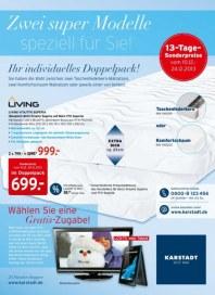 KARSTADT Matratzen & Bettwaren - Zwei super Modelle speziell für Sie Dezember 2013 KW50
