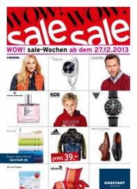 KARSTADT Wow! sale-Wochen ab dem 24.12.2013 Dezember 2013 KW52