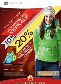 Sportarena Aufräumungsverkauf Januar 2014 KW01