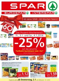 SPAR Spar Angebote 01.01 - 15.01.2014 Januar 2014 KW01
