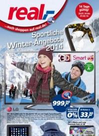 real,- Sonderbeilage - Sportliche Winter-Angebote 2014 Januar 2014 KW04 1