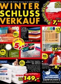 Dänisches Bettenlager Winter-Schluss-Verkauf Januar 2014 KW05