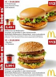 McDonalds Gutscheine 17.-21.02.2014 Februar 2014 KW08