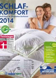 Dänisches Bettenlager Schlafkomfort Februar 2014 KW09